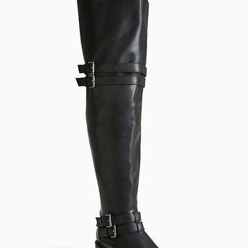 Over The Knee Multi Strap Boots (Wide Width & Wide Calf)