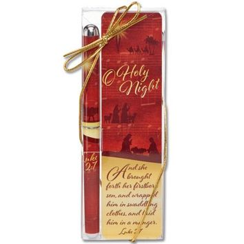 O Holy Night Christian Bookmark Pen Favor Gift Set - Limited Supply