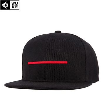 Trendy Winter Jacket New Trucker Hater Snapback Gorras Hip Hop Cap Female Baseball Cap Women Brim Straight Hat Fashion Unisex Red Stripes Rap Chapeau AT_92_12