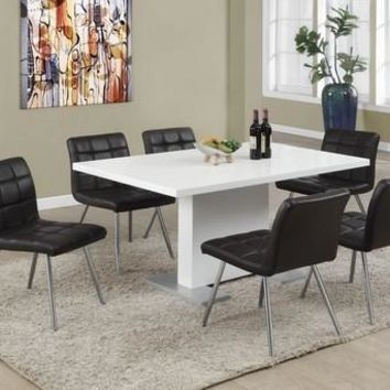 "High Glossy White 35""X 60"" Dining Table"