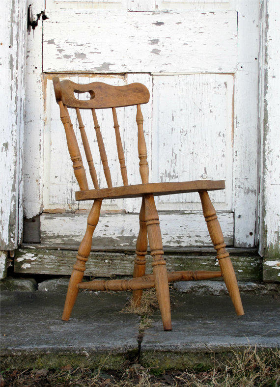Antique Wooden Saloon Chair Minimal From