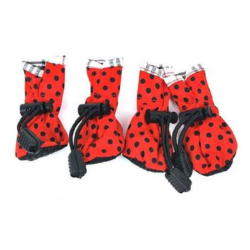 Newest Dog Pet Cat Puppy Anti-slip Shoes Dog Waterproof Protective Special Boots Shoes