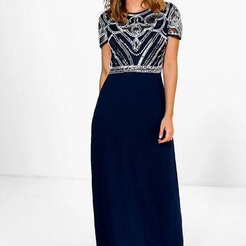 Boutique Francesca Embellished Top Maxi Dress | Boohoo