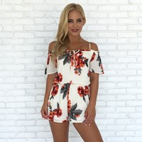 Tropic Like It's Hot Floral Romper