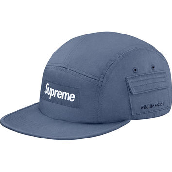 Supreme: Wildlife Side Pocket Camp Cap - Slate