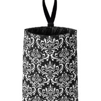 Auto Trash (Black Damask) by The Mod Mobile - litter bag/garbage can for your car