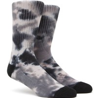 """New"" Socks Tie Dye Crew Socks - Mens Socks - Black - One"