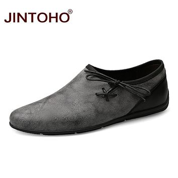 Fashion Casual Men Shoes Luxury Shoes Fashion Leather Loafers Slip On Driving Shoes Men Flats