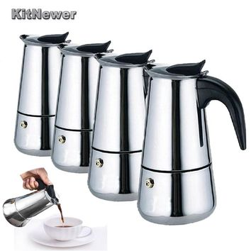 KITNEWER High Quality 100/200/300ml/450ml Stainless Steel Espresso Maker Kitchen Drip Kettle Tea Pot Coffe Pot Coffee Extractor