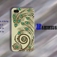Design  peacock tail  IPhone 5s case Special gift IPhone 5c case IPhone 5 case  IPhone 4 case iphone case Hard soft  case iphone 4s case 139