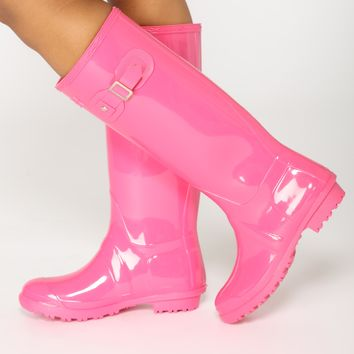 Don't Rain On Me Boots - Pink