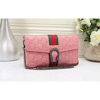 Gucci 2018 Fashion Women's Leather Metal Chain Messenger Bag F-LLBPFSH