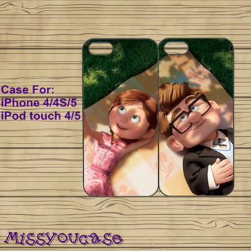 iphone 4 case,iphone 4s case,cute iphone 4 case,iphone 5 case,cute iphone 5 case,Carl and Ellie Couple,best friends case,in plasitc,silicone