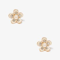Pearlescent Flower Studs