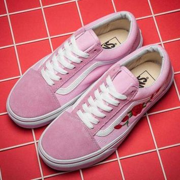 ONETOW Vans X Amac Customs Canvas Old Skool Embroidery Sneakers Sport Shoes
