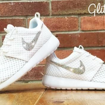 Tagre™ Bling Nike Roshe Run Glitter Kicks - Blinged Nikes, Bling Shoes, Blinged out Nikes, Gl