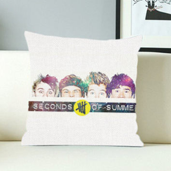 5 Seconds of Summer Face - Design Pillow Case with Black/White Color.