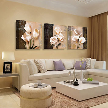3 Panel Modern Picture Paintings Wall Pictures Abstract Art Oil Painting