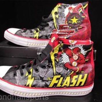 Converse THE FLASH DC Comics Chuck Taylor Sneaker Shoe CRIMSON COMET 141321C