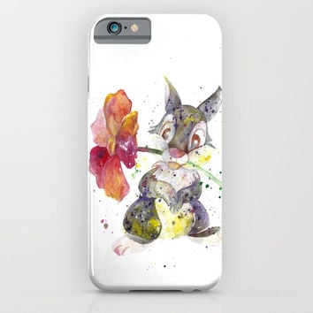 Thumper With Flower iPhone & iPod Case by MIKART