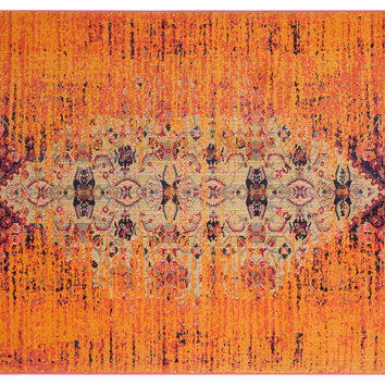 Vana Rug, Orange/Multi, Area Rugs