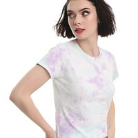 Pastel Pink & Blue Tie-Dye Girls T-Shirt