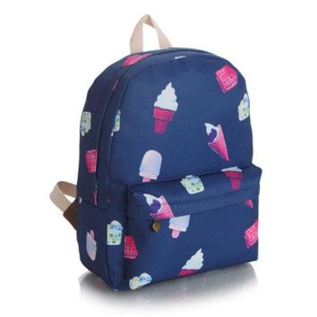 DCCKIX3 Cute Lovely Sweets Canvas Candy Korean Backpack = 4887751492