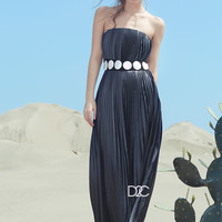 REINEREN any Xisha desert oasis series Pleated Shell and Tube Dress - REINEREN - D2C designer global integration platform: set the trend of cutting-edge art of fashion _ _ character design as one of the shopping platform