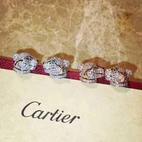 2018 Charm Cartire Women Rose Crystal Rhinestone Fashion Stud Earring cartilage hoop stud drop Jewelry