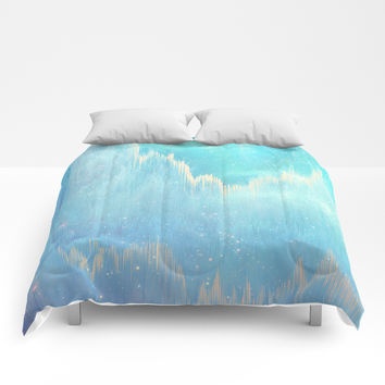 Blue Dreamscape Comforters by printapix