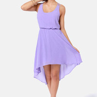 Couldn't Be Strappier Lavender High-Low Dress