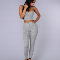 Kick Back Top - Grey