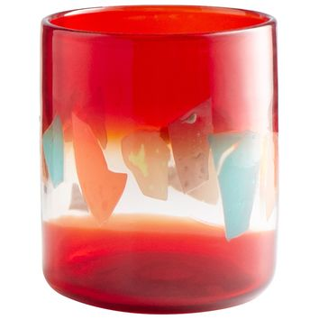 Carnival Contemporary Art Glass Vase - Large by Cyan Design
