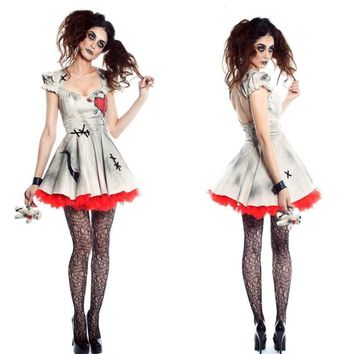 2018 Women Halloween Party Clothes Adult Zombie Bride Dress Demon Devil Costumes Fancy Dress Cosplay Fancy Black Dress Outfit