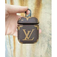 LV Louis Vuitton & GUCCI & Burberry Fashion New Monogram Print Women Men Protective Case Earphone Case No Headphones