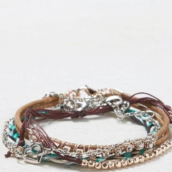 AEO Women's Mixed Media Bracelet Set (Multi)