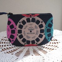 Coin Business Card Clutch Zipper Case  View Master Reels Made in the USA