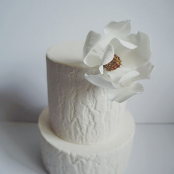 Edible Cake Topper Sugar Flower Magnolia for Birthday or Wedding