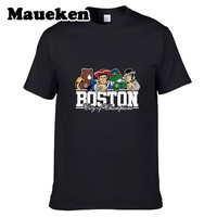 Men Boston City For New England Celtics Bruins Red Sox Patriots T-shirt Clothes T SHIRT Men's Comic Cartoon W0301001