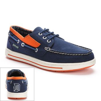 Eastland Detroit Tigers Adventure Men's Boat Shoes (Blue)