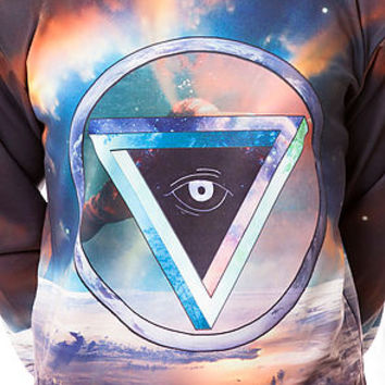 The Triangle Eye Crewneck in Multi