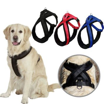 Adjustable Large Dog Harness Collar Soft Pet Chest Strap