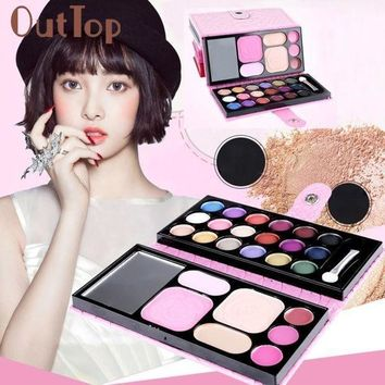 CREY8UV 25Colors Makeup Palette Cosmetic Eyeshadow Blush Lip Gloss Powder Cosmetic Makeup Set JAN16
