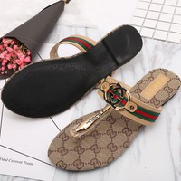 Gucci Fashion Casual Women Flip-Flops Print Sandal Slipper Shoes G-GCXGCFH-GC