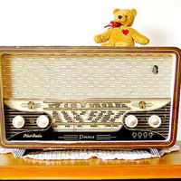 Antique Wood Radio, Pilot Prince Israeli Radio from the 50s