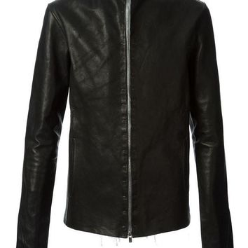 ICIKIN3 A Diciannoveventitre leather zip fastening jacket