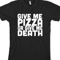 Black T-Shirt | Funny Pizza Shirts