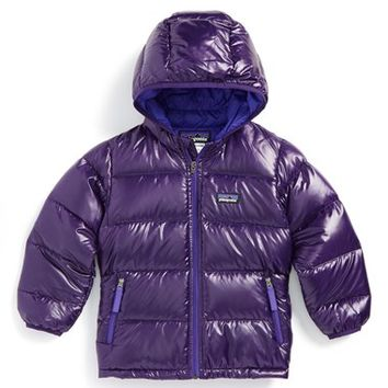 Toddler Girl's Patagonia 'Hi-Loft' Quilted Hooded Down Jacket,