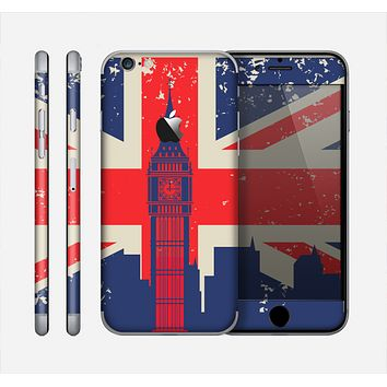 The Vintage London England Flag Skin for the Apple iPhone 6