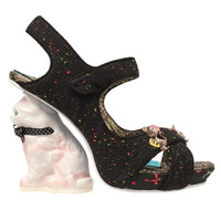 Black Mousetrap Heels from Irregular Choice